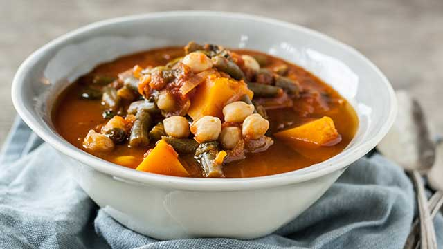 Spiced Veggie and Bean Stew