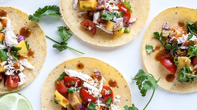 Summer Tacos with Mango Pico De Gallo