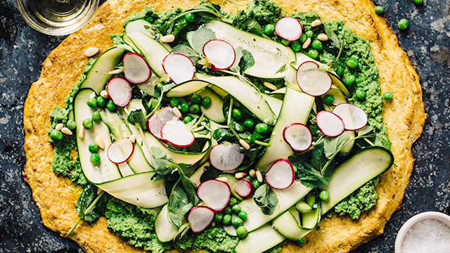 Green Cauliflower Pizza