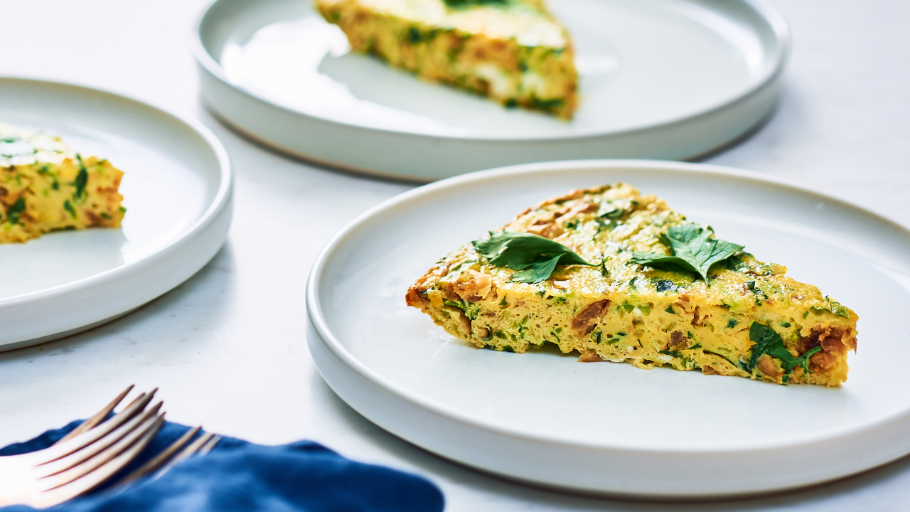 Zucchini + Caramelized Onion Frittata