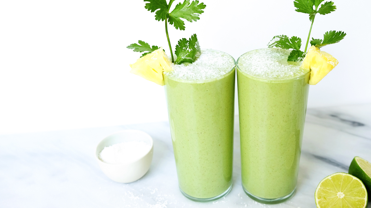 Pineapple-Cilantro-Lime Smoothie